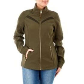 BEBE SPORT Fleece-Lined Soft Shell Jacket with Mes