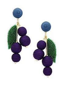 Kenneth Jay Lane Beaded Drop Earrings NO COLOR