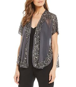Echo Echo Sparkly Sheer Shrug