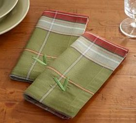 Pottery Barn Charles Plaid Napkin, Set of 4