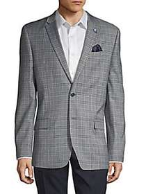 Ben Sherman Plaid Notched Sportcoat GREY