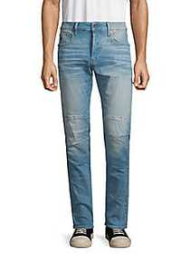 G-Star RAW Wes Moto Skinny Jeans LIGHT AGED BLUE
