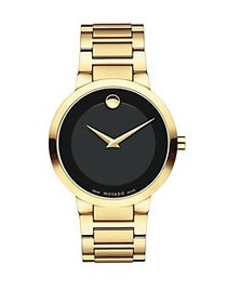 Movado Modern Classic Yellow Gold PVD-Finished Bra