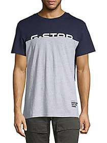 G-Star RAW Colorblock Graphic T-Shirt BLUE