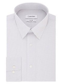 Calvin Klein Non-Iron Printed Dress Shirt PURPLE M