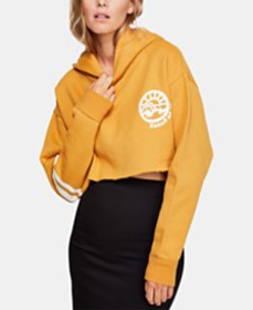 Free People Baldwin Cropped Graphic Hoodie