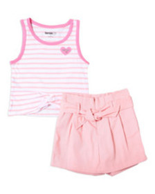 Kensie Girl madison striped tank & scooter set (7-