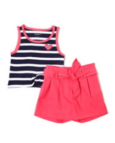 Kensie Girl madison striped tank & scooter set (4-
