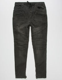 BROOKLYN CLOTH Denim Mens Moto Jogger Pants_