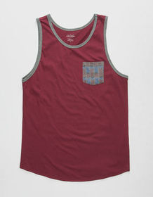 BLUE CROWN De Soto Mens Pocket Tank Top_