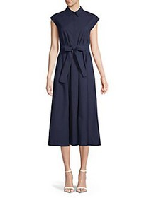 Marella Judit Waist-Tie Shirt Dress CORNFLOWER