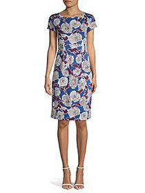 Weekend Max Mara Floral Cotton Sheath Dress CORNFL