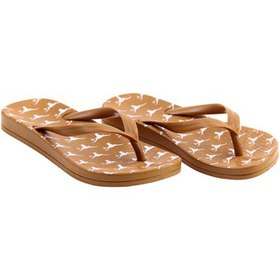 Texas Longhorns Youth Repeating Logo Flip Flops -