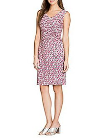 NIC+ZOE Printed Sheath Dress RED