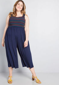 ModCloth ModCloth Bright Benefits Cropped Jumpsuit