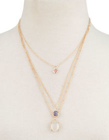 FULL TILT Gemstone Layered Necklace_