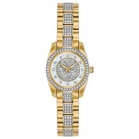 BULOVA Bulova Womens Pave Crystal Mother of Pearl