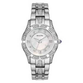 BULOVA Bulova Womens Crystal Mother of Pearl Brace