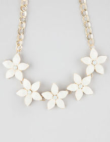 FULL TILT Stone Flower Statement Necklace_