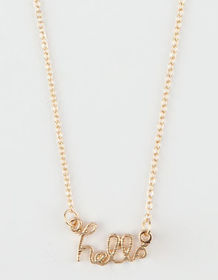 FULL TILT Hello Script Necklace_