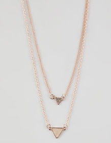 FULL TILT 2 Layer Triangle Necklace_