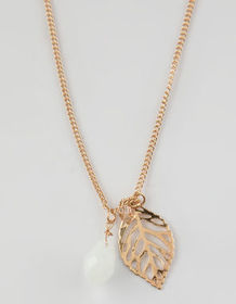 FULL TILT Feather Stone Necklace_