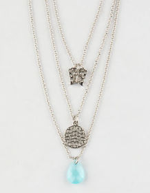 FULL TILT 3 Pack Butterfly & Crystal Necklaces_