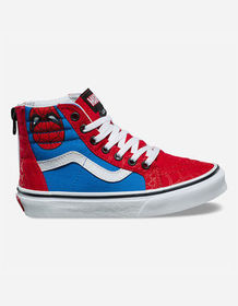 VANS x Marvel Spider-Man Sk8-Hi Zip Kids Shoes_