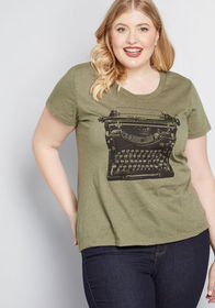 On the Write Track T-Shirt Olive