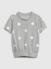 Toddler Dot Short Sleeve T-Shirt In French Terry