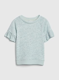 Toddler Short Ruffle Sleeve Pullover Top In French