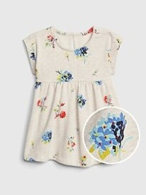 Toddler Short Sleeve Fit And Flare Top
