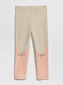 Toddler Knee-Graphic Leggings In Stretch Jersey