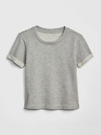 Toddler Print Roll-Sleeve Top