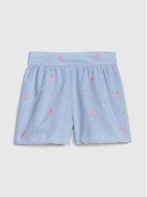 Toddler Bunny Embroidery Shorts