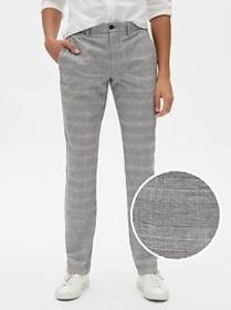 Plaid Pants in Slim Fit with GapFlex