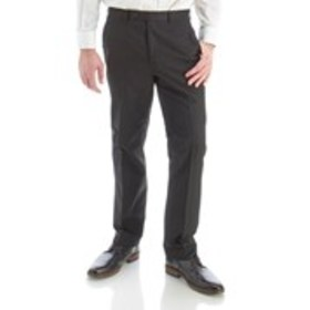 Mens Modern Fit Flat Front Timeless Black Suit Pan