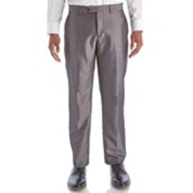 Mens Traditional Fit Flat Front Dark Grey Suit Pan