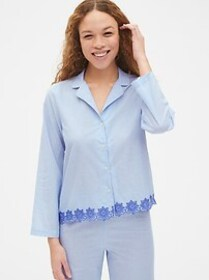 Dreamwell Long Sleeve Stripe Top with Embroidered