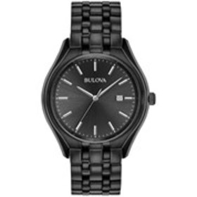 BULOVA Bulova Mens Black Stainless Steel Dress Wat