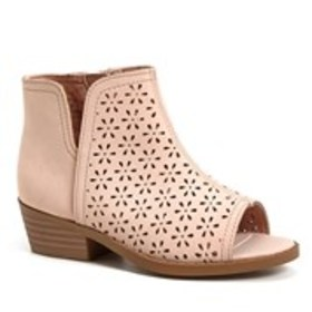 Toddler Girl Perforated Open Toe Shoes