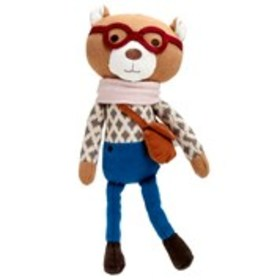 PEANUT SHELL Knit Hipster Plush Bear