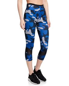 Sam Edelman High-Rise Camo-Print Capri Leggings
