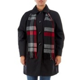 LONDON FOG Plus Size Wool Blended Button-Front Coa