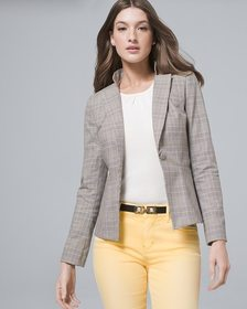 Luxe Suiting Plaid Jacket