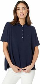 Lacoste Short Sleeve Relaxed Fit Lyocell-Cotton Po