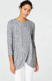 Pure Jill Space-Dyed Wrap-Style Pullover