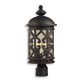 ELK Lighting Tuscany Coast 2-Light Post Light in W