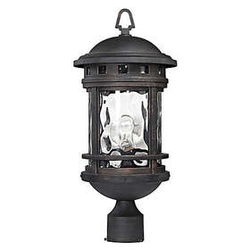 Costa Mesa Outdoor Post Lantern in Charcoal