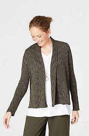 Pure Jill Crinkled Shawl-Collar Jacket